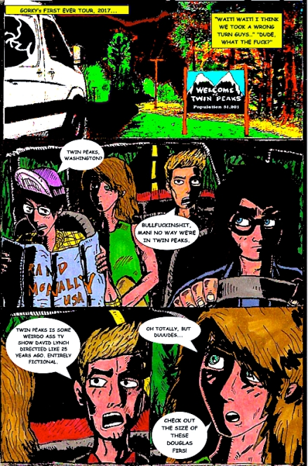 Gorky Goes To Twin Peaks, Page 1